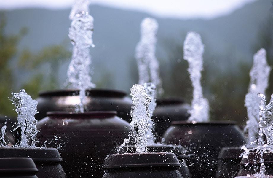 Fontána, voda …